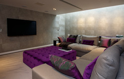 Sacha Jacq Interiors - Modern Lounge/Theater Room