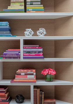 Sacha Jacq Interiors - Bookcase - Photo Credit: Michael Lee Photography