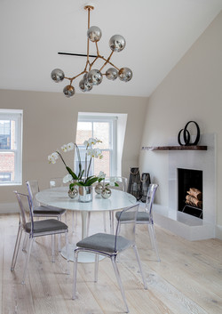 Sacha Jacq Interiors - Dining Area - Photo Credit: Michael Lee Photography