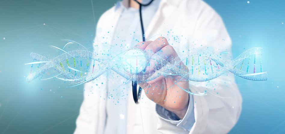 View of a Doctor holding a 3d render DNA.jpg