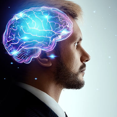 Close up portrait of a man from the side in profile and a hologram of a working brain_edited.jpg
