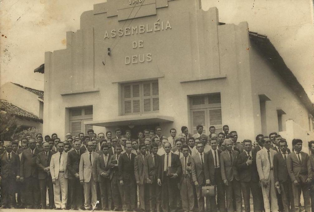 Pastores_no_templo_central_-_Convenção_na_década_de_60