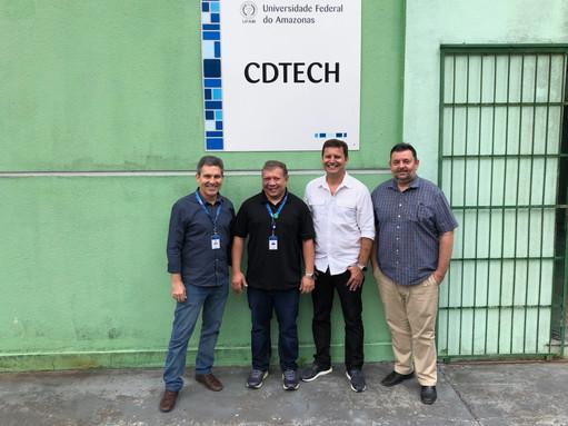 Visita dos representantes do SIDIA, Senhores Walfran Falcão e Daniel Goettenauer