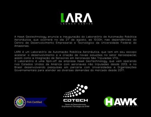 Lançamento do Laboratório de Automação Robótica Aeronáutica  - 27/08/2019