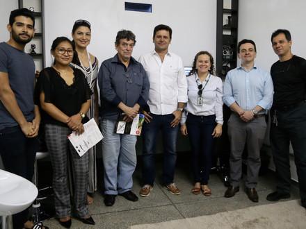 Queremos agradecer à Prefeita e professores da UFAM pela visita ao Hub de Inovação Aeroespacial.