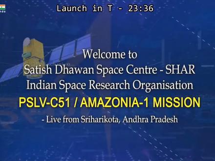 Brazilian satellite Amazonia 1 launches in India