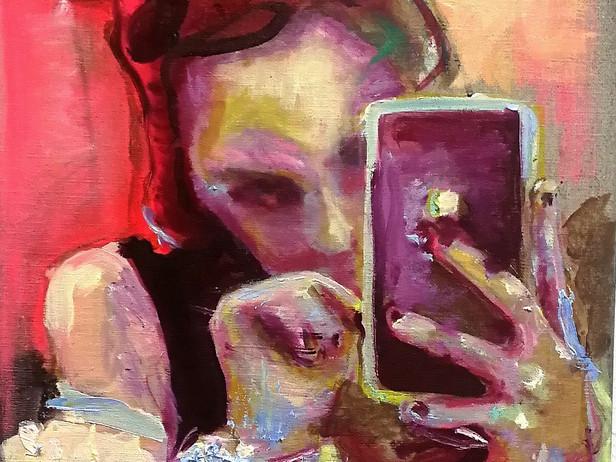 Girl reading phone
