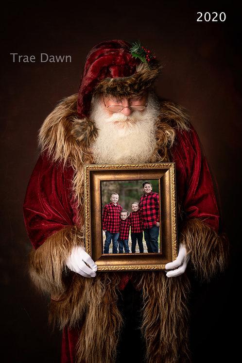 Vertical Digital Photo With Santa