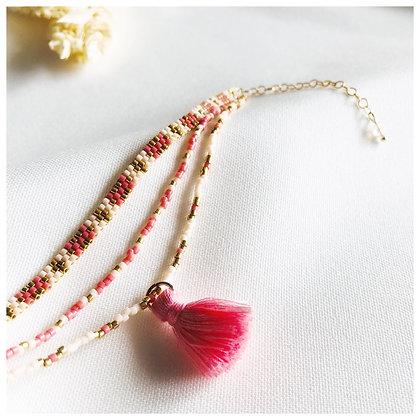 Bracelet de Cheville - corail
