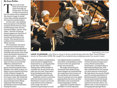 Inna Faliks pays tribute to Leon Fleisher in the LA Times
