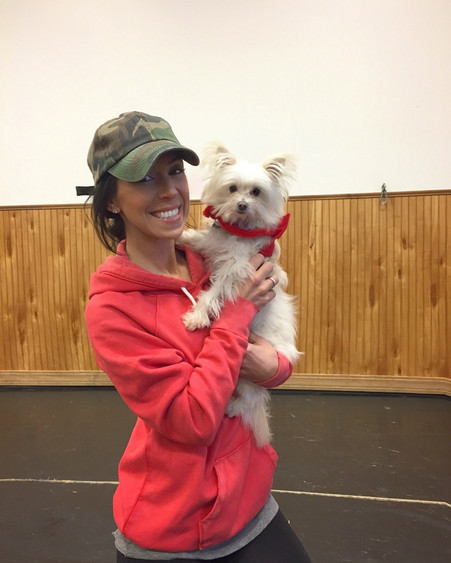 The tiniest little muffin, Chloe with Free To Be Me Animal Rescue. I dont think I put her down the whole time I was there