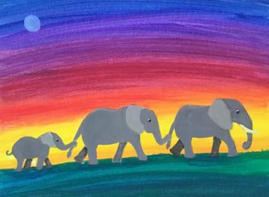 Elephants Heading Home