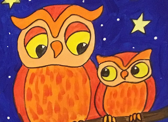 The Owls Paint Kit