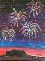 Fireworks over Black Mesa