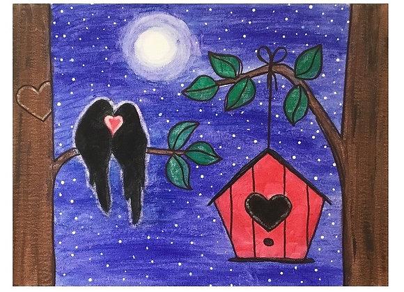 Love Birds Paint Kit