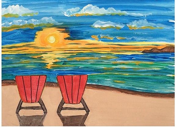 Sunset Beach Paint Kit includes a Zoom Class 7/29
