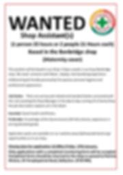 Shop Assistant Poster Banbridge Jan 2020