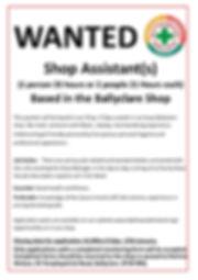 Shop Assistant Poster Ballyclare Jan 202