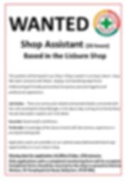 Shop Assistant Poster Lisburn Jan 2020.j