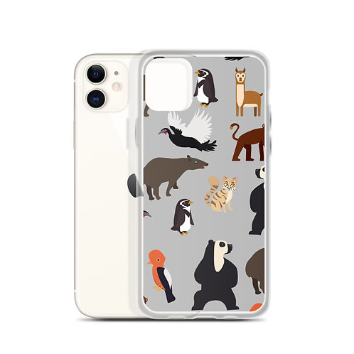 Endangered Species Gray iPhone Case