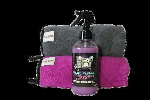 Waterless wash and wax starter kit