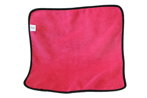 Pink light duty microfiber towel