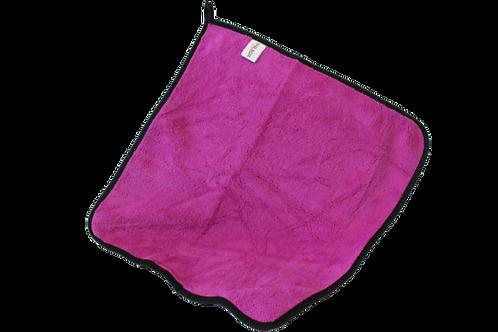 Purple light duty microfiber towel with hanging loop