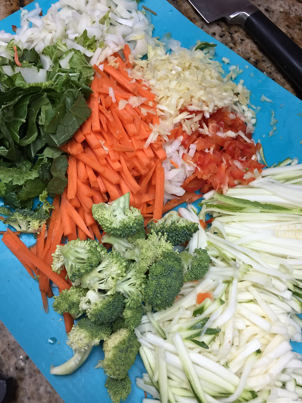 Use a slicer to quickly chop and slice veggies, Vegan Lifestyle Coach Naomi Mannino