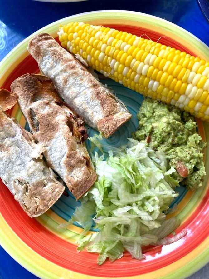 Crunchy Air-Fried Black Bean Flautas