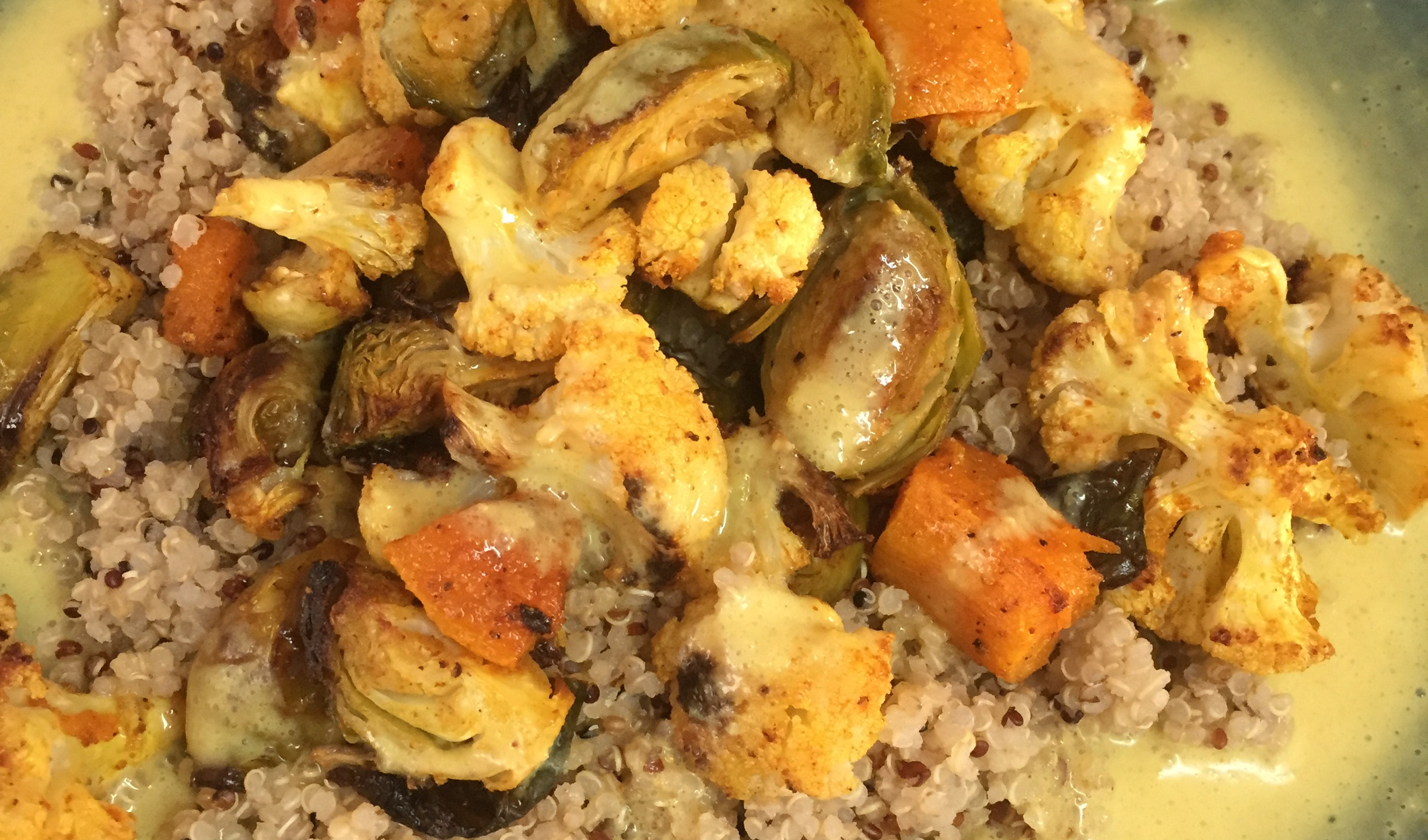 Roasted Veggies over Quinoa with Cur