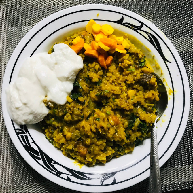 Traditional (But Oil-FREE) Indian Khichdi (Kitchari)