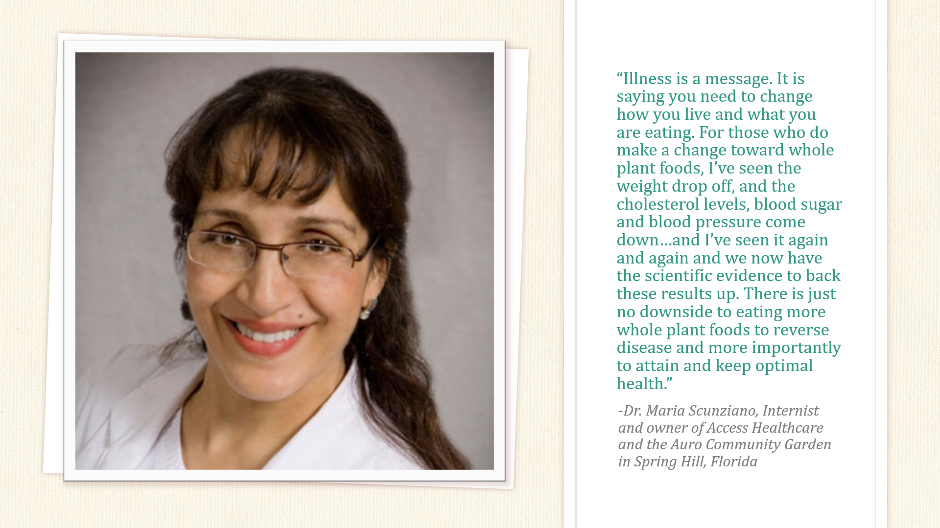 Dr. Maria Scunziano says...