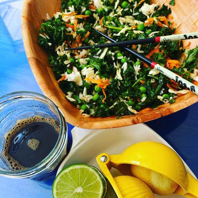 Sweet & Sour Oil-Free Massaged Kale Crunch