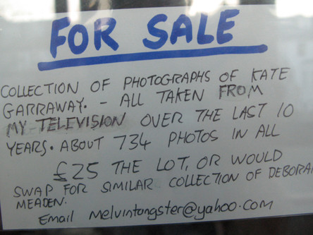 23 Postcards Put in Newsagent Windows