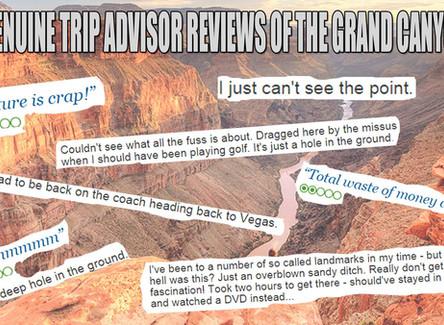 Genuine Tripadvisor Reviews of The Grand Canyon