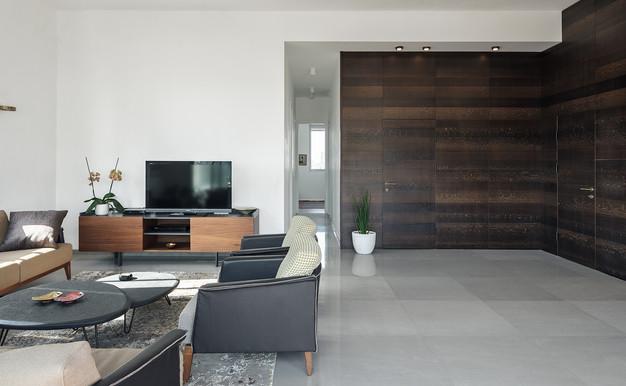 penthouse, wood wall