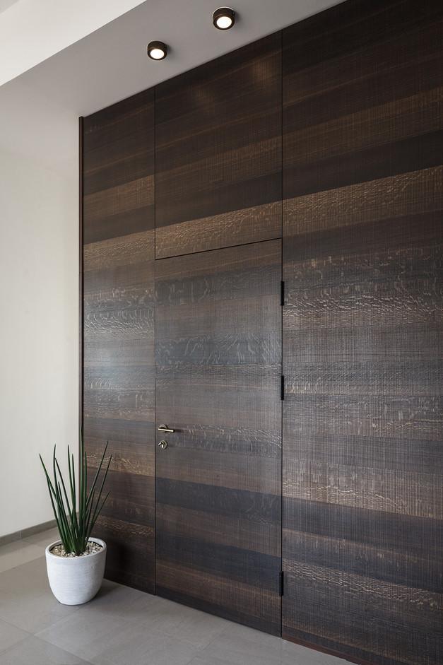 penthouse, wood hidden door