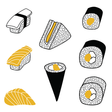 sushi illustrations