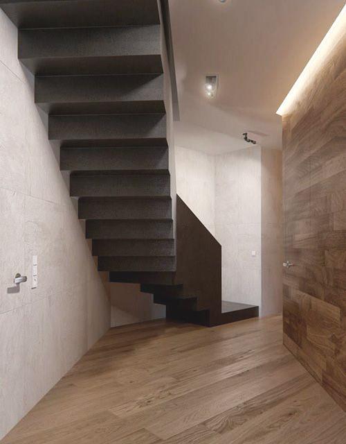 foco negro escalera