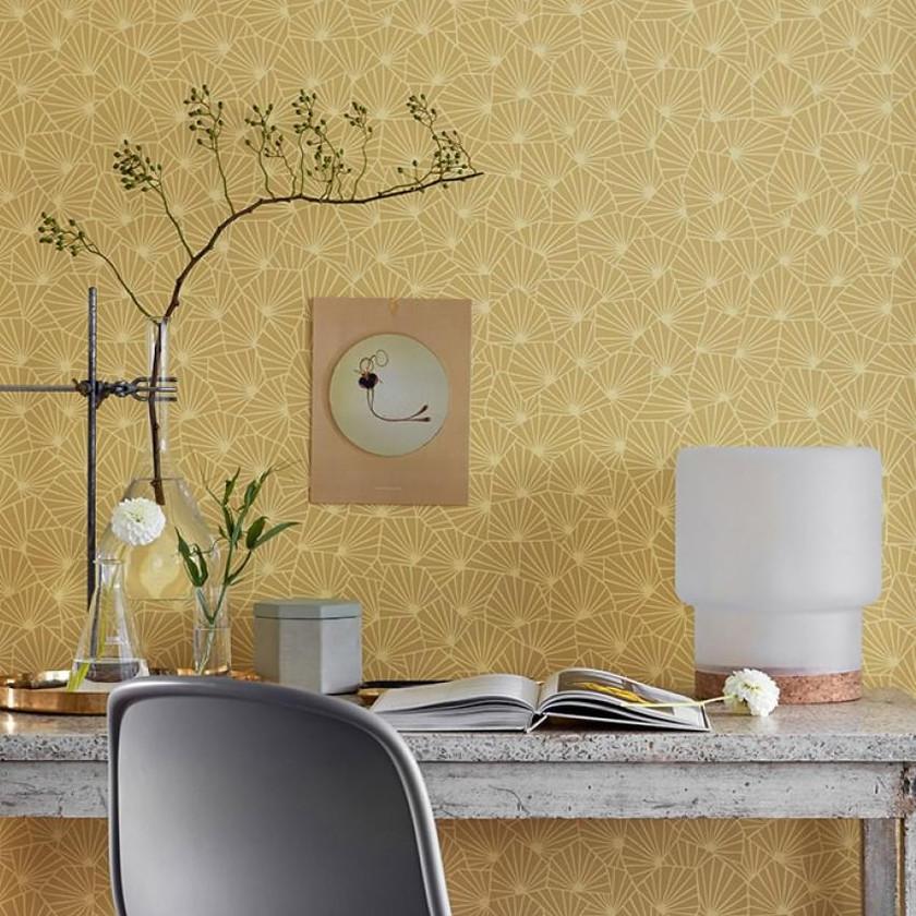 Papel geométrico amarillo_zona de trabajo