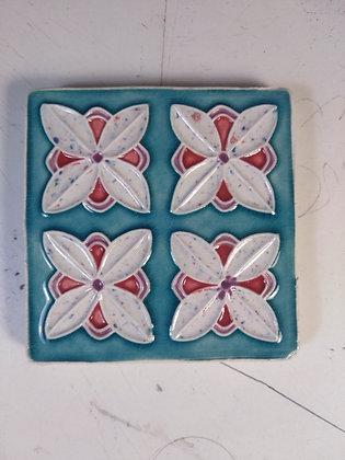 Azulejo quatro flores