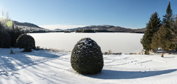 Frosted Lake from Overnight - Panorama