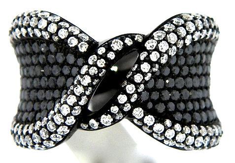 black zigzag ring