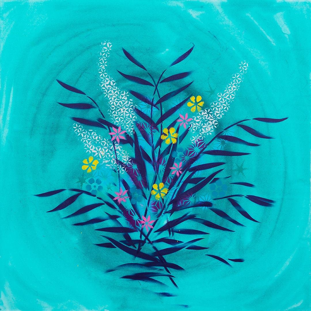 sabine oecking - ikebana - 100x100 - 201