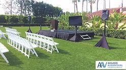 Outdoor tv and speaker rental image