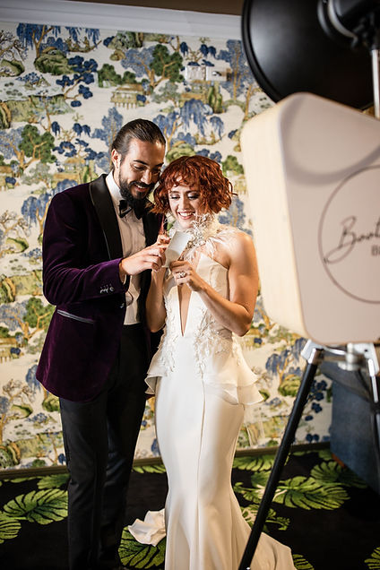 Brisbane Marriage Celebrant: Rowena Travi of Celebrant Chic Brisbane offers packages with Music and Photo Booth