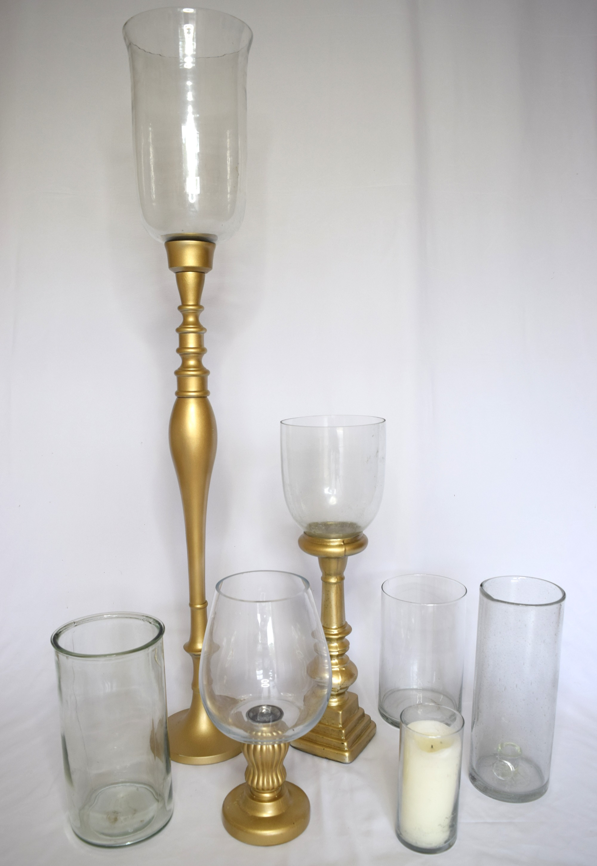 Gold & Glass Votive Set
