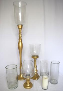 Gold & Glass Votive Set