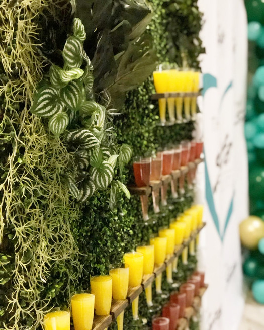 Fun use of our Champagne wall - who doesn't love mimosas!?