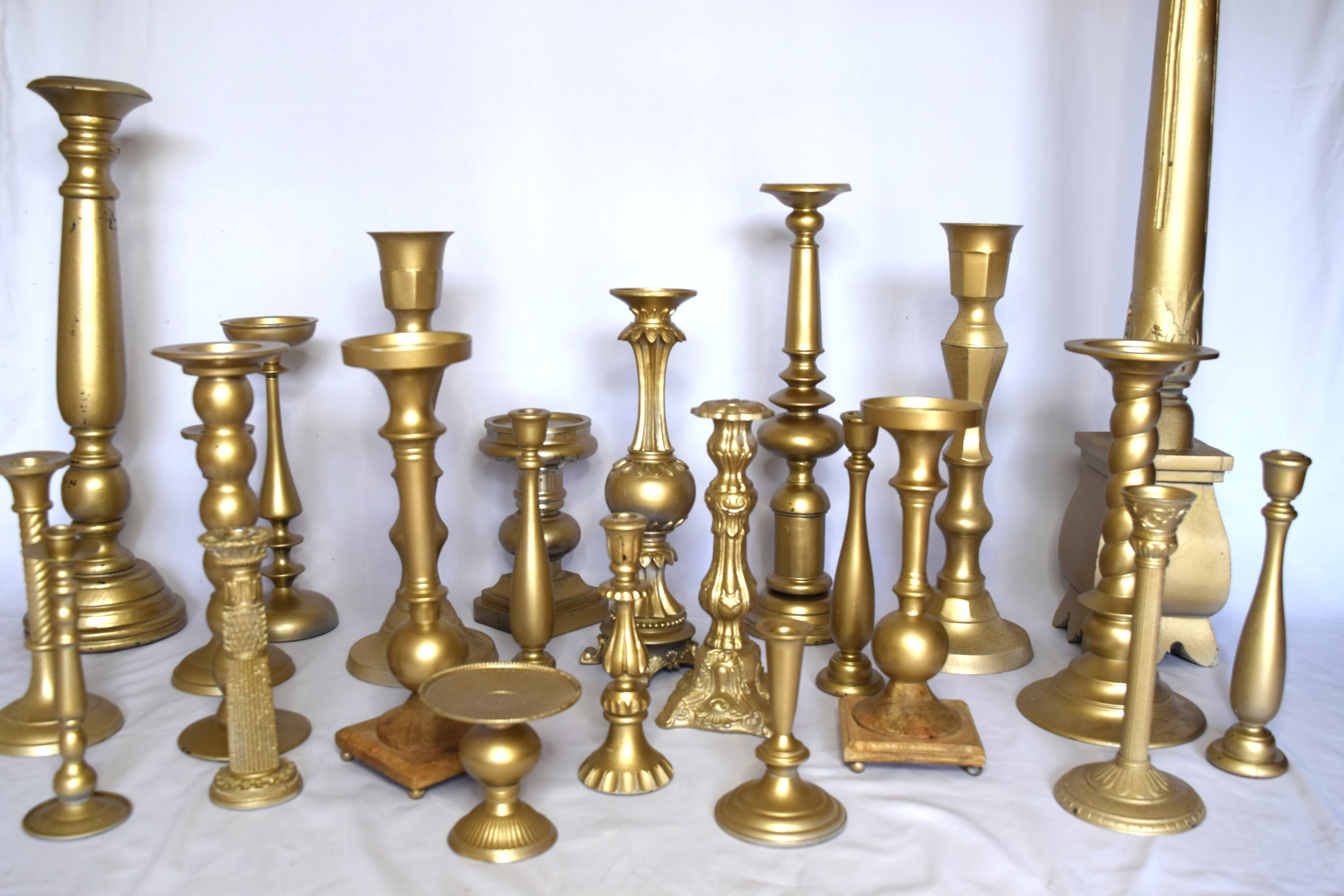 """24k Magic"" Candlestick Set"